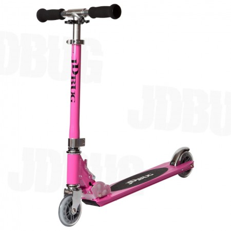 JD Bug Original Street Folding Kids Scooter -Pastel Pink