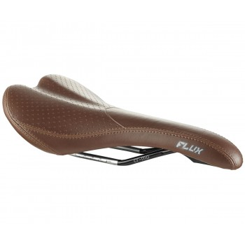 Madison FLUX XC / Road MTB Brown Cromo Rails Bike Saddle