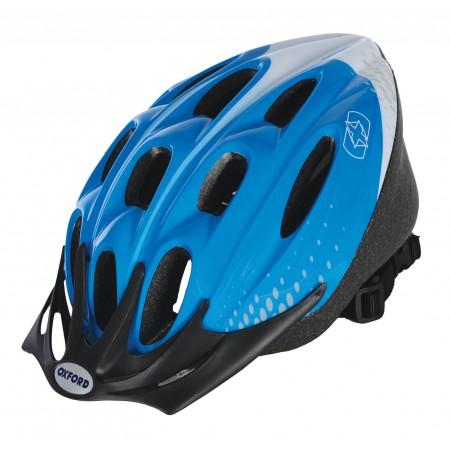 Oxford F15 Hurricane Blue White Bike Helmet