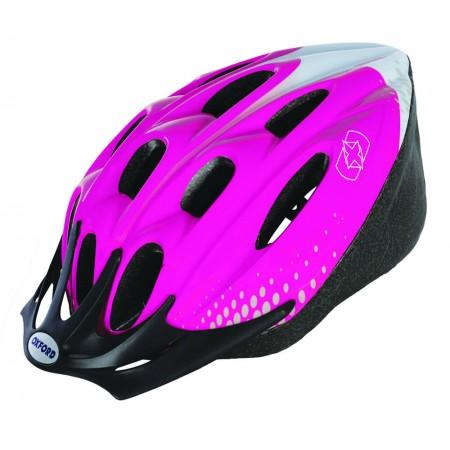 Oxford F15 Hurricane Pink White Bike Helmet