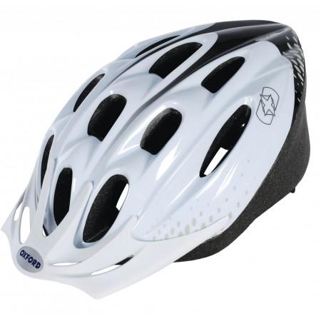 Oxford F15 Hurricane White Black Bike Helmet