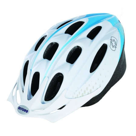 Oxford F15 Hurricane White Blue Bike Helmet