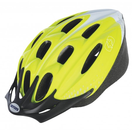 Oxford F15 Hurricane Yellow Bike Helmet