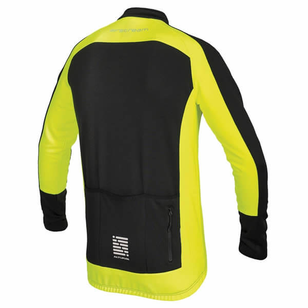 Black / Yellow Altura Long Sleeve Jersey Rear View